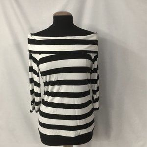 Top White House Black Market Stripes Off Shoulder